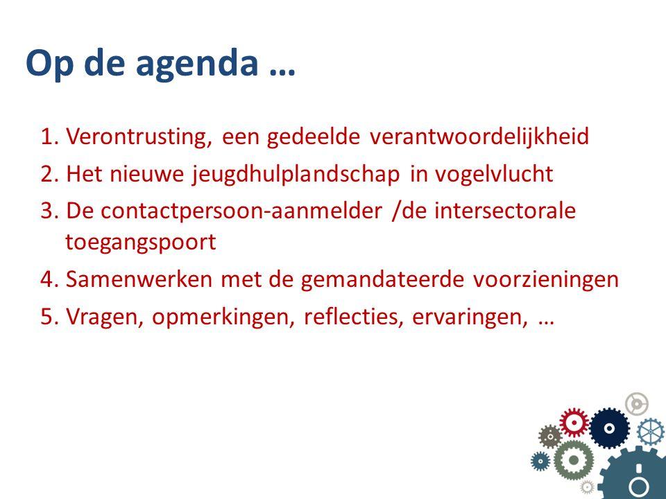 Op de agenda … 1. Verontrusting, een gedeelde verantwoordelijkheid 2.