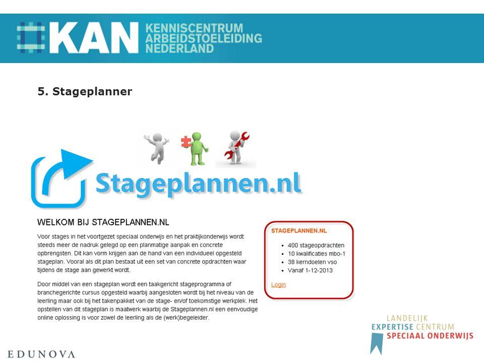 5. Stageplanner