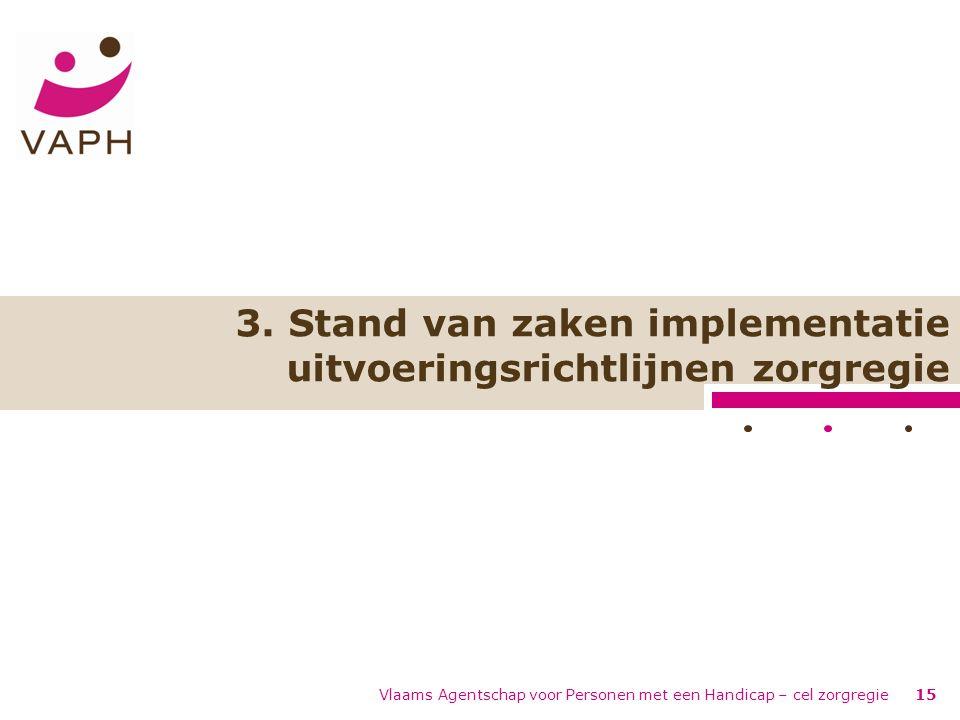 Vlaams Agentschap voor Personen met een Handicap – cel zorgregie15 3.