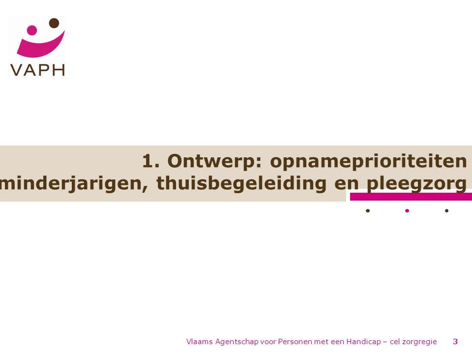 Vlaams Agentschap voor Personen met een Handicap – cel zorgregie3 1.