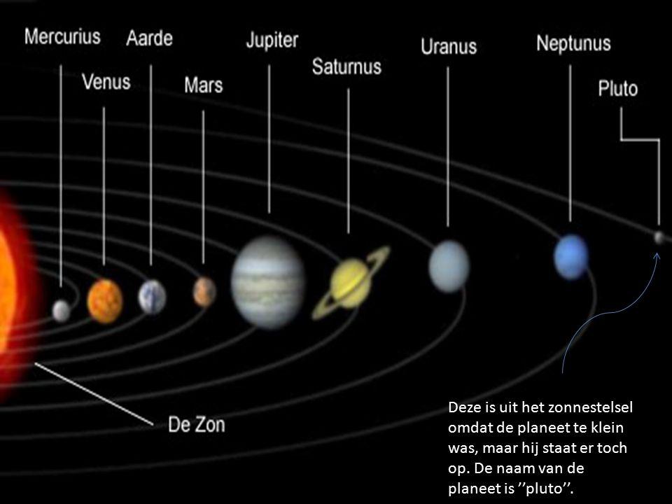 y.gvh Deze is uit het zonnestelsel omdat de planeet te klein was, maar hij staat er toch op.