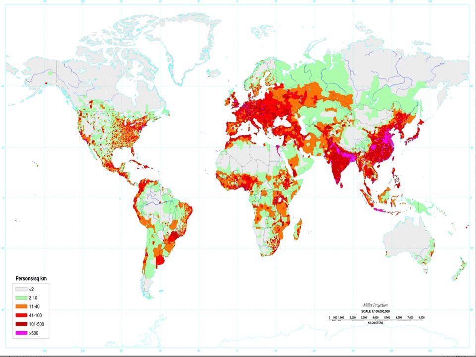 Doel 6 wat zijn dicht- en dunbevolkte gebieden.