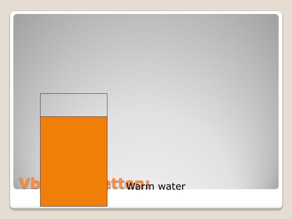 Vb: thee zetten: Warm water