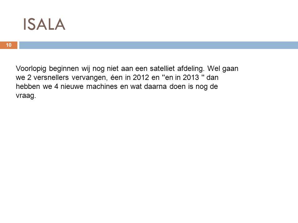 ISALA 10 Voorlopig beginnen wij nog niet aan een satelliet afdeling.