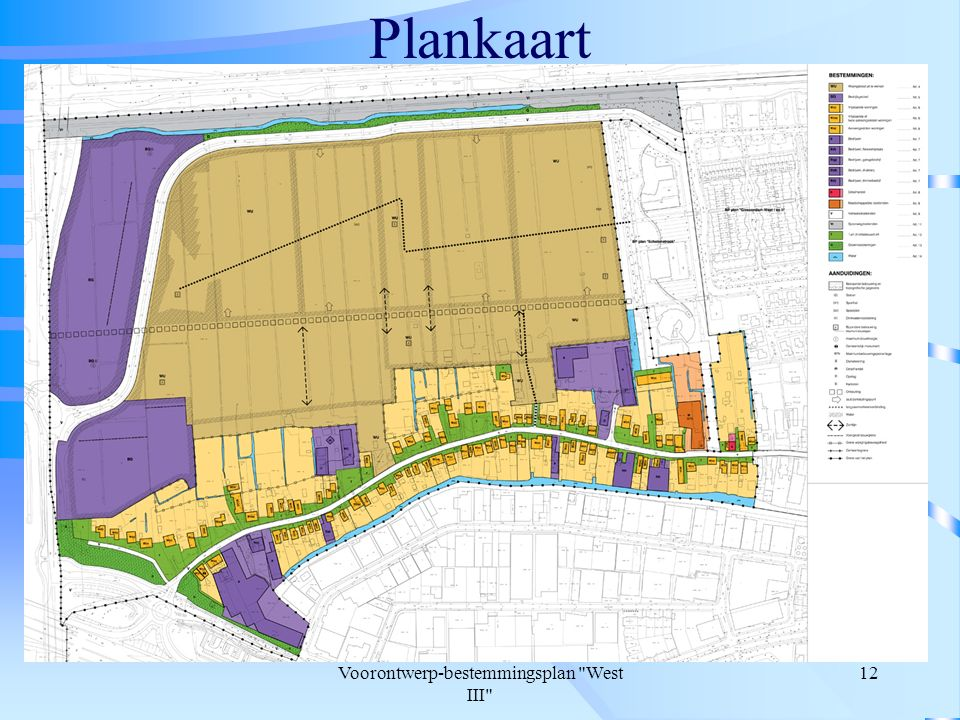Voorontwerp-bestemmingsplan West III 12 Plankaart
