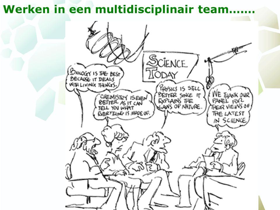 Werken in een multidisciplinair team….…