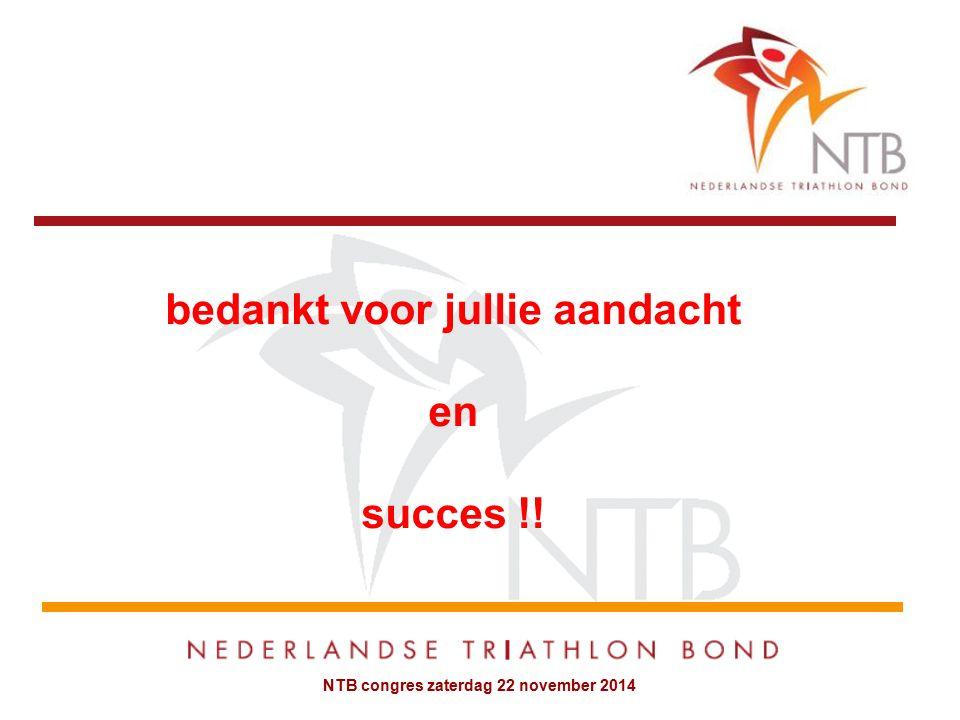 NTB congres zaterdag 22 november 2014 bedankt voor jullie aandacht en succes !!