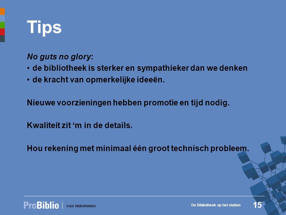 voor bibliotheken Tips No guts no glory: de bibliotheek is sterker en sympathieker dan we denken de kracht van opmerkelijke ideeën.