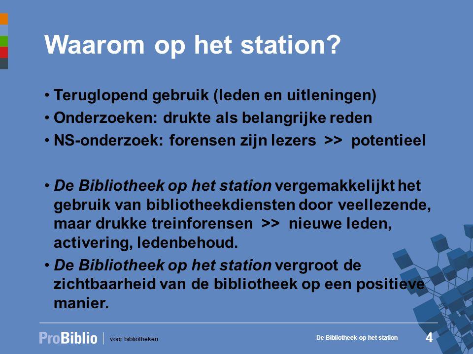 voor bibliotheken Waarom op het station.