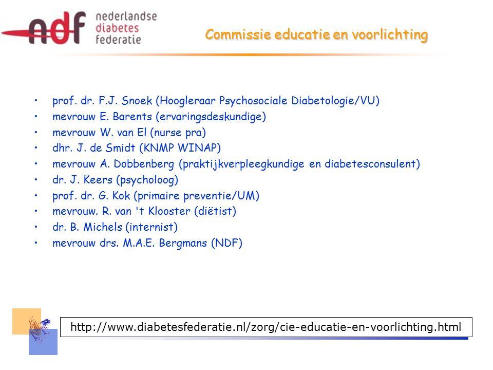 Commissie educatie en voorlichting prof. dr. F.J.