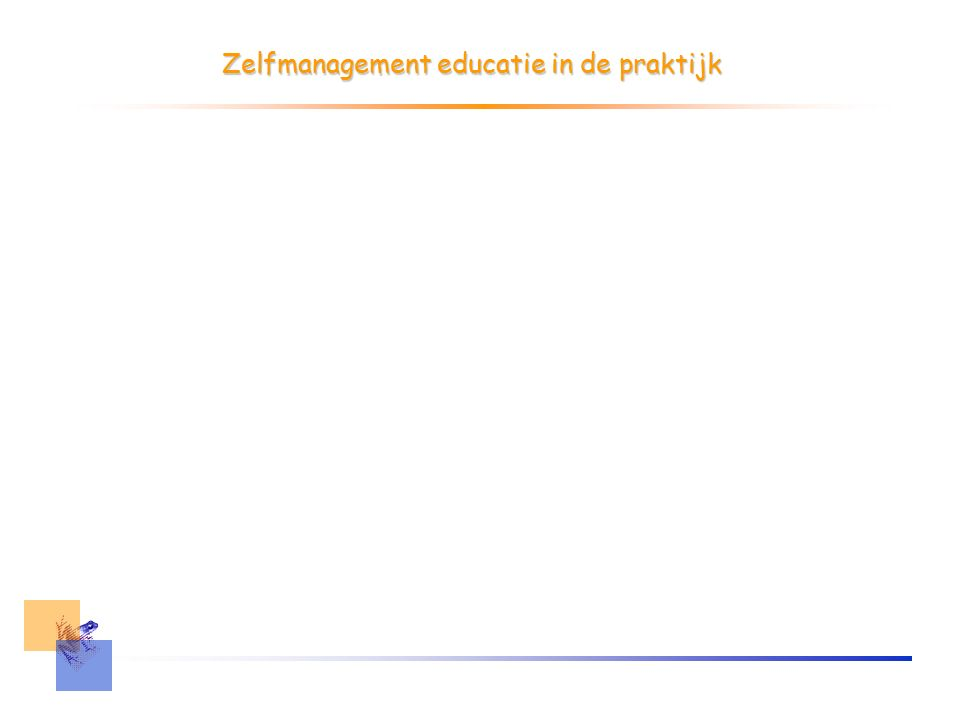 Zelfmanagement educatie in de praktijk