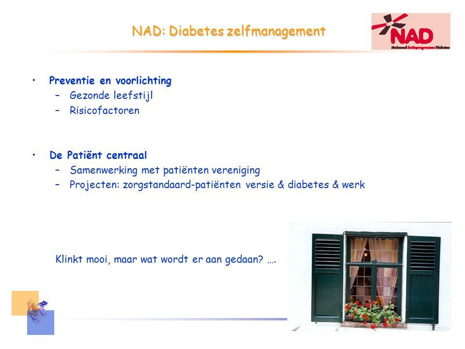 Diabetes zelfmanagement Zelfmanagement educatie