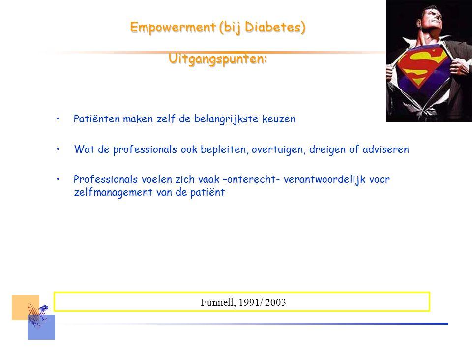 Interpersoonlijke dimensie Interactie tussen behandelaar en patiënt Interesse tonen en niet (ver)oordelen Prioriteiten van patiënt Individuele informatie geven Betrokkenheid en 'onderhandelen' Aujoulat et al., 2007