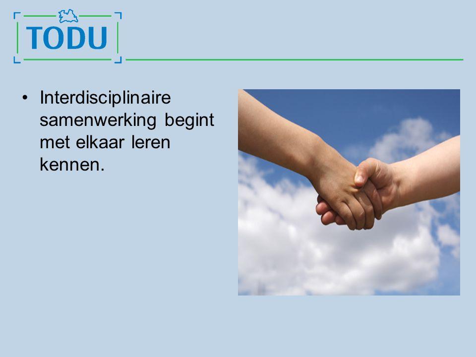 Interdisciplinaire samenwerking begint met elkaar leren kennen.