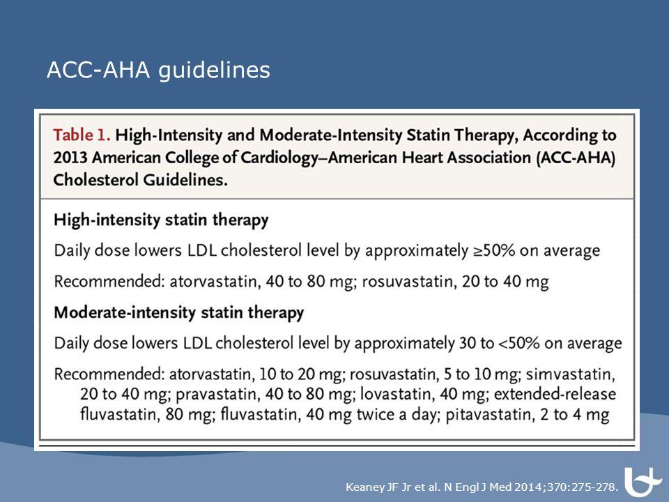 ACC-AHA guidelines Keaney JF Jr et al. N Engl J Med 2014;370:275-278.