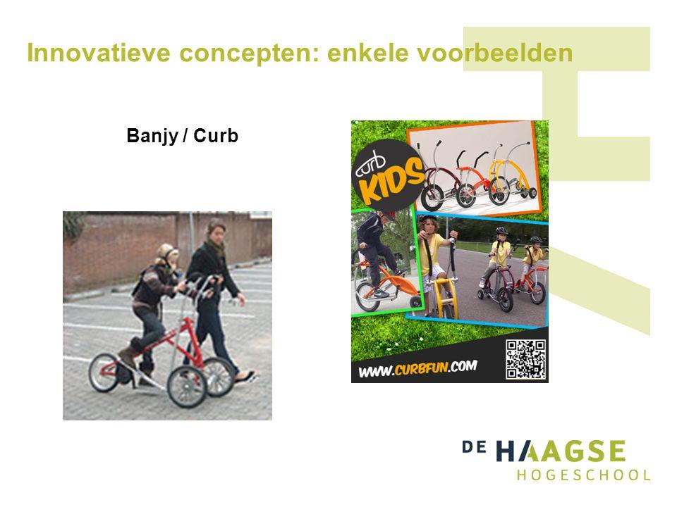 Innovatieve concepten: enkele voorbeelden Banjy / Curb
