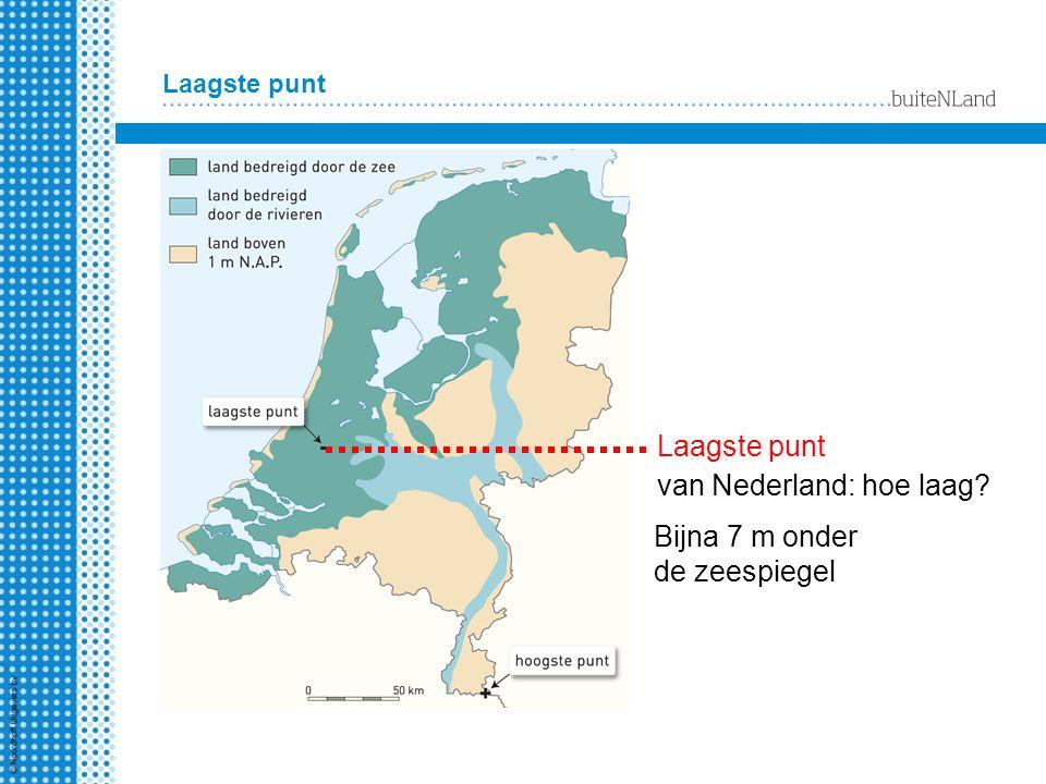 Bijna 7 m onder de zeespiegel Laagste punt van Nederland: hoe laag? Laagste punt