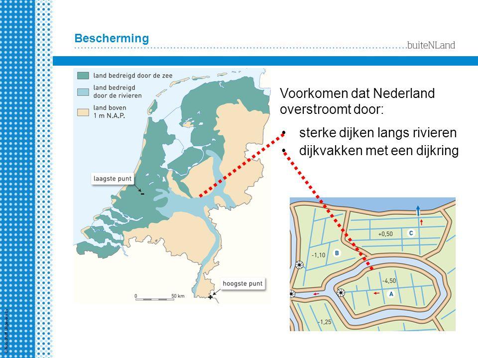 Voorkomen dat Nederland overstroomt door: Bescherming sterke dijken langs rivieren dijkvakken met een dijkring