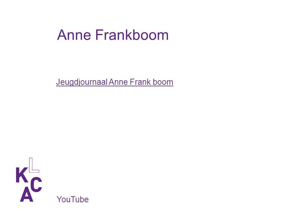 Anne Frankboom YouTube Jeugdjournaal Anne Frank boom