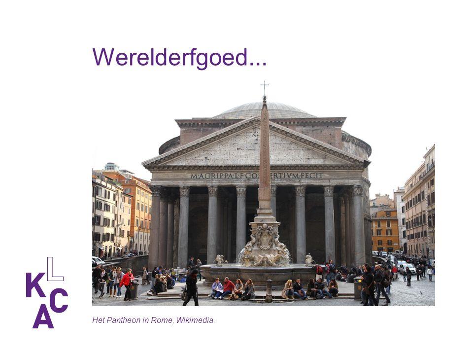 Werelderfgoed... Het Pantheon in Rome, Wikimedia.
