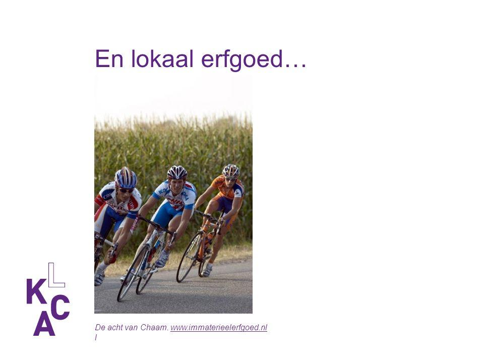 En lokaal erfgoed… De acht van Chaam. www.immaterieelerfgoed.nlwww.immaterieelerfgoed.nl l
