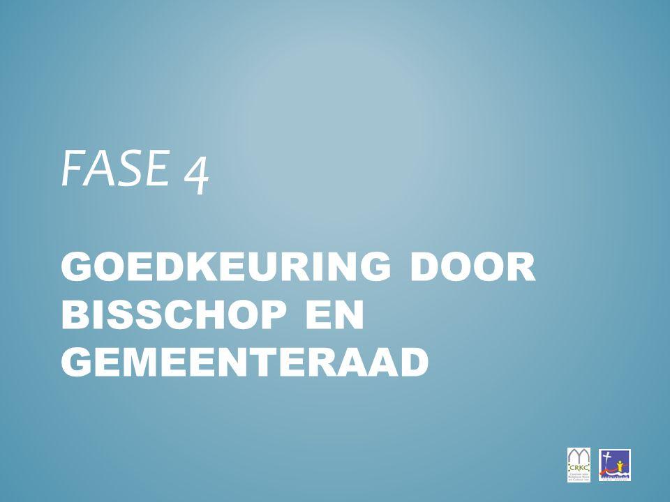 GOEDKEURING DOOR BISSCHOP EN GEMEENTERAAD FASE 4