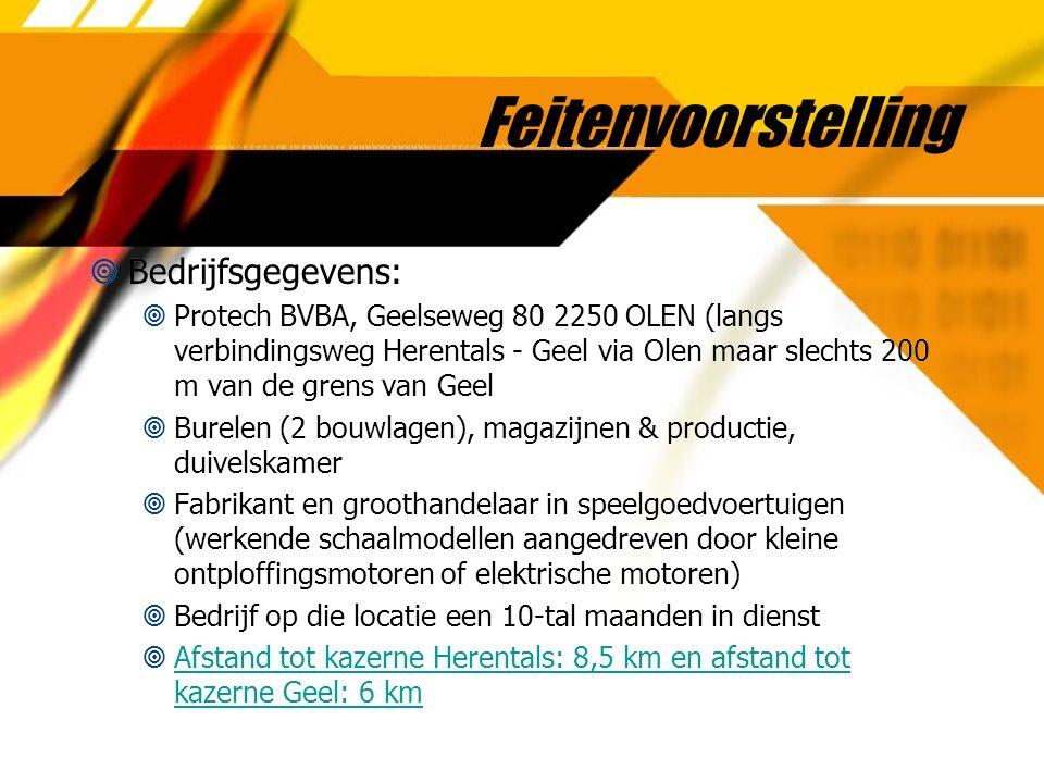 Feitenvoorstelling  Bedrijfsgegevens:  Protech BVBA, Geelseweg 80 2250 OLEN (langs verbindingsweg Herentals - Geel via Olen maar slechts 200 m van d
