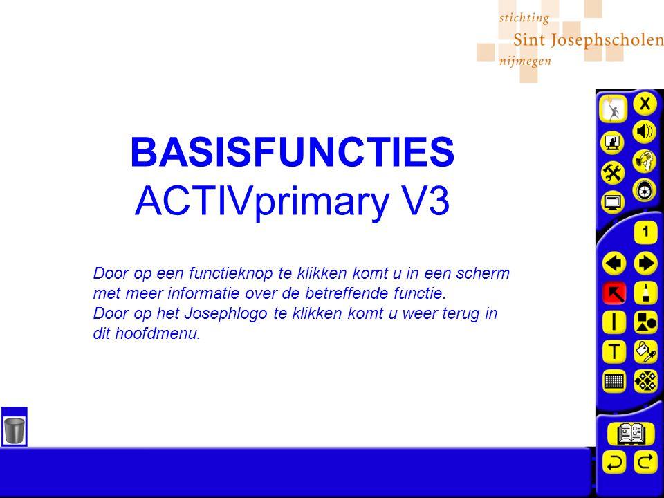 BASISFUNCTIES ACTIVprimary V3 Door op een functieknop te klikken komt u in een scherm met meer informatie over de betreffende functie.