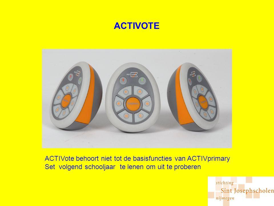 ACTIVOTE ACTIVote behoort niet tot de basisfuncties van ACTIVprimary Set volgend schooljaar te lenen om uit te proberen