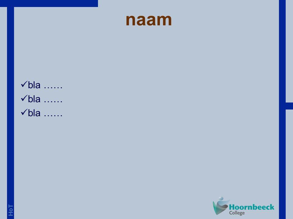 HoT voorbeeldopgave CE-toets 3F