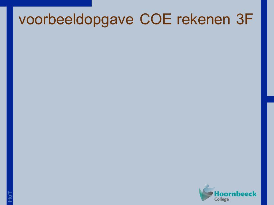 voorbeeldopgave COE rekenen 3F