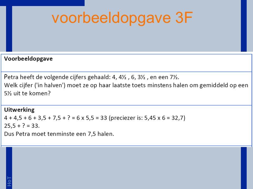 HoT voorbeeldopgave 3F