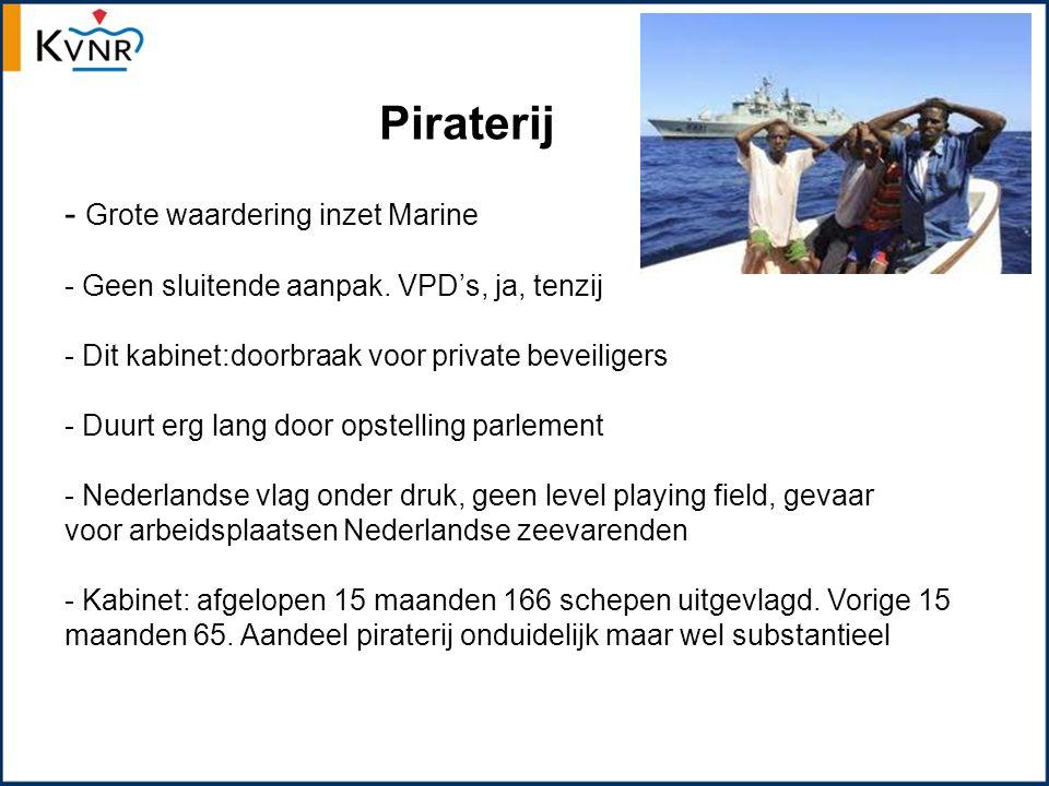 Piraterij - Grote waardering inzet Marine - Geen sluitende aanpak.
