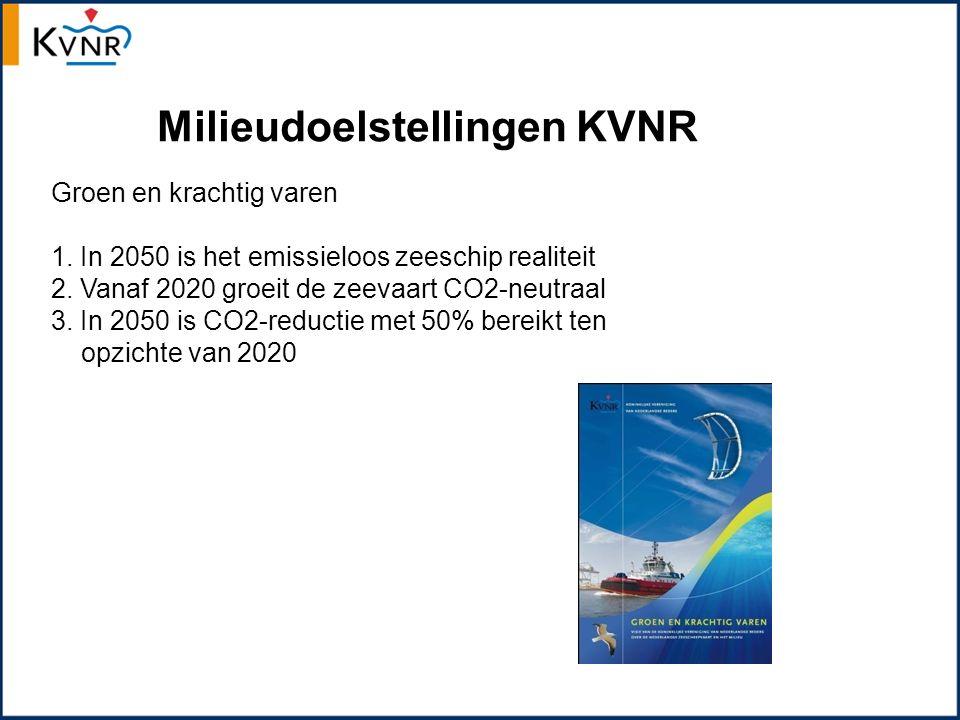 Milieudoelstellingen KVNR Groen en krachtig varen 1.