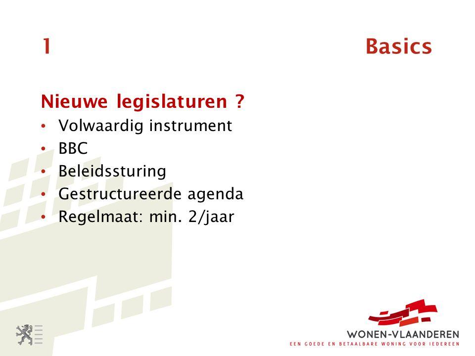1 Basics Nieuwe legislaturen .