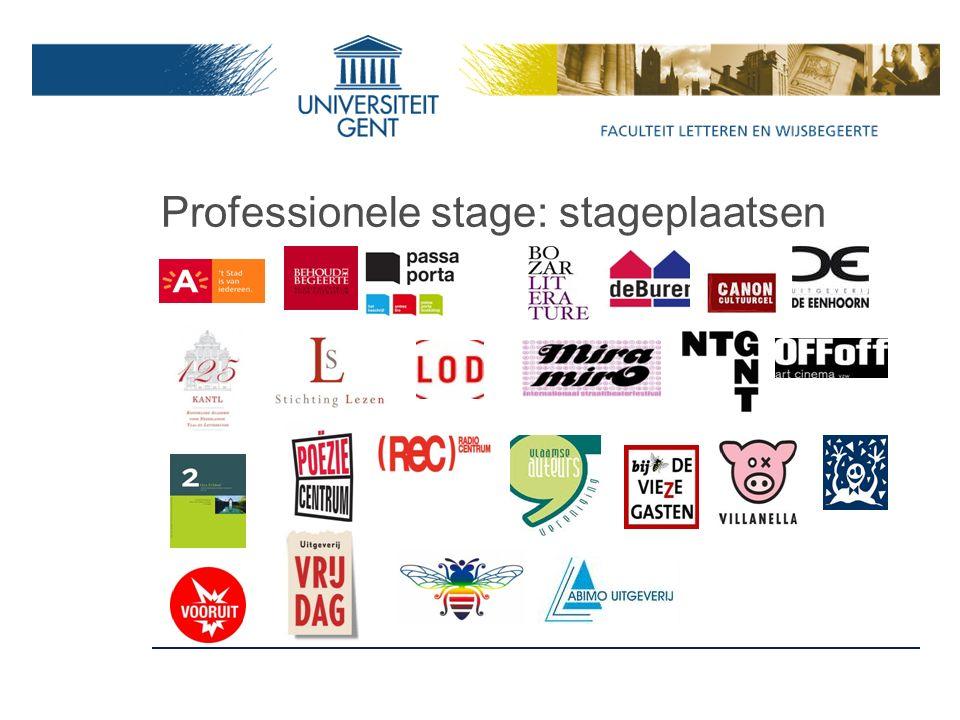 Professionele stage: stageplaatsen