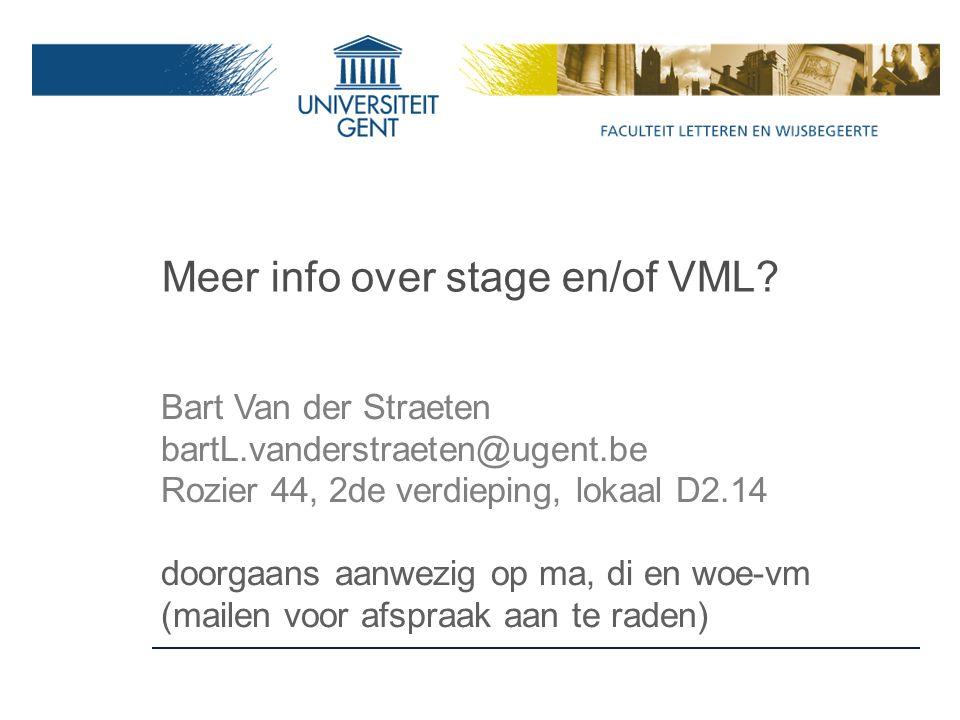 Meer info over stage en/of VML.