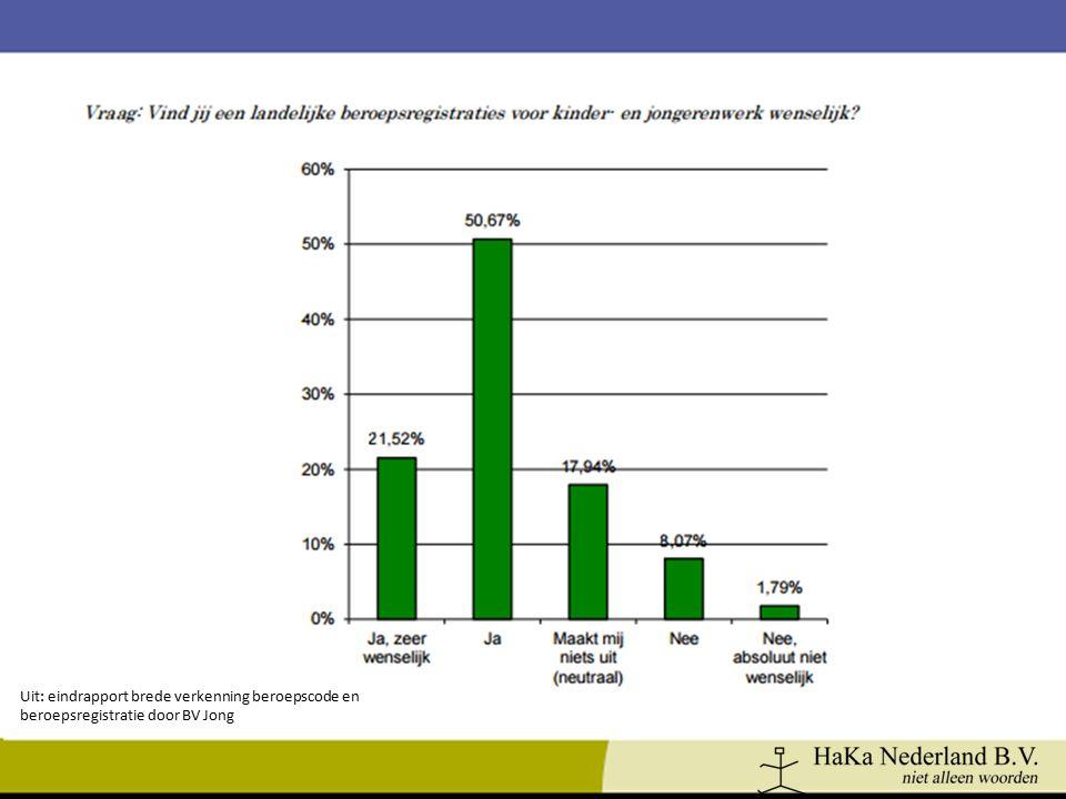 Uit: eindrapport brede verkenning beroepscode en beroepsregistratie door BV Jong