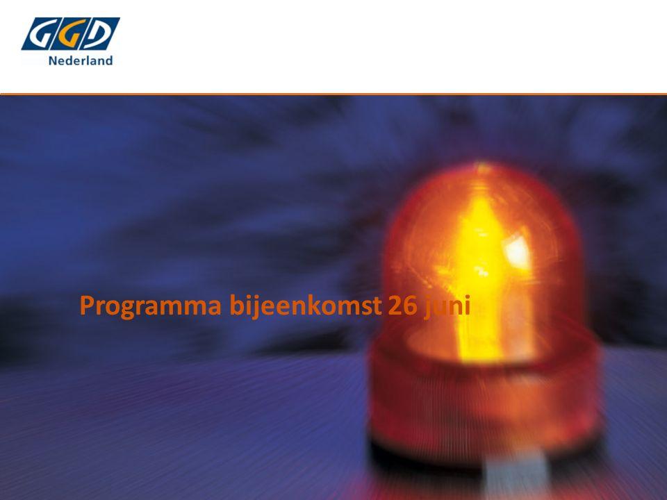 Programma bijeenkomst 26 juni