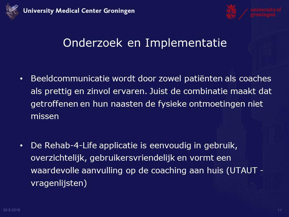 Beeldcommunicatie wordt door zowel patiënten als coaches als prettig en zinvol ervaren.