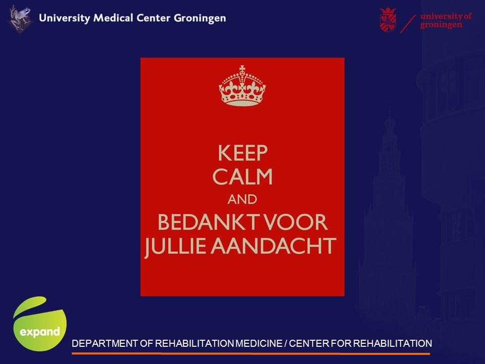 DEPARTMENT OF REHABILITATION MEDICINE / CENTER FOR REHABILITATION