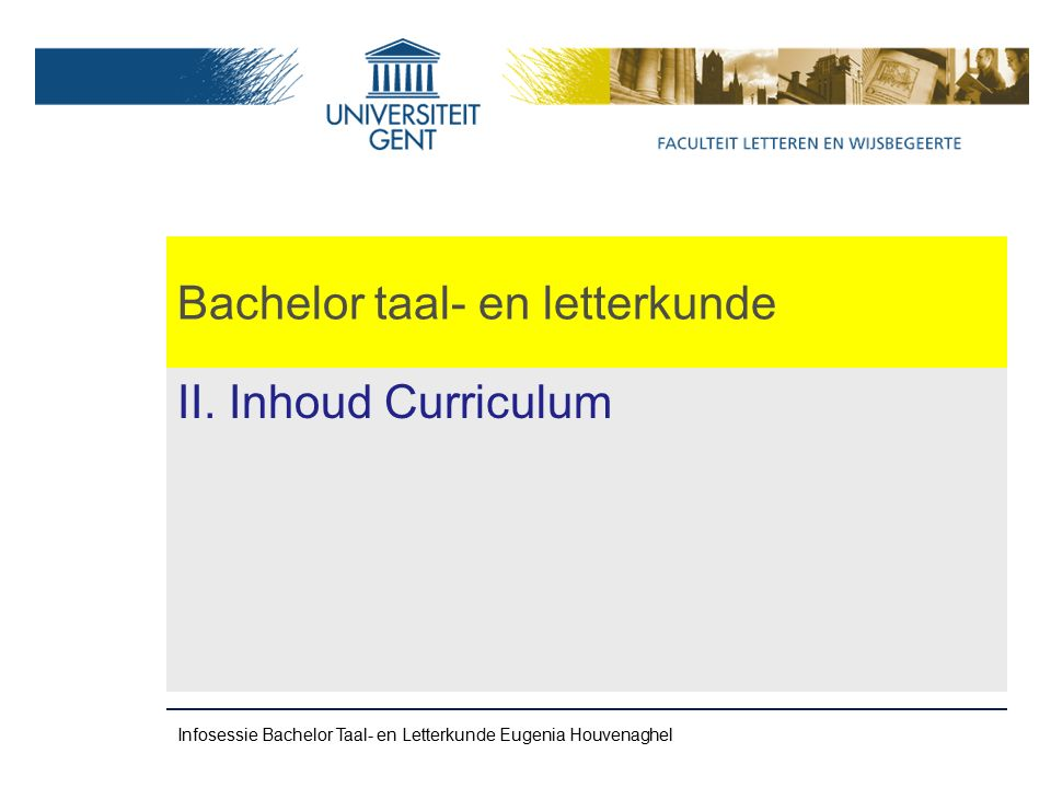 Bachelor taal- en letterkunde II.