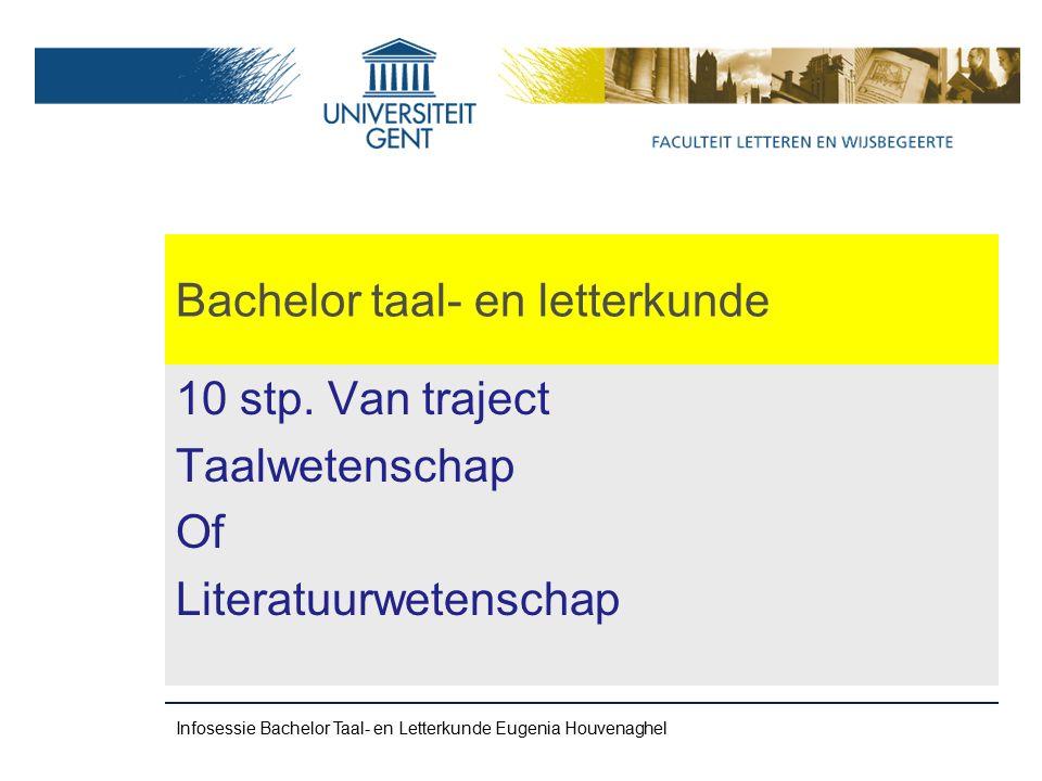 Bachelor taal- en letterkunde 10 stp.
