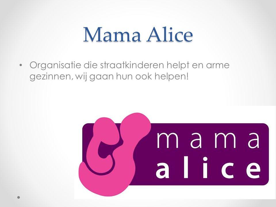 Mama Alice Organisatie die straatkinderen helpt en arme gezinnen, wij gaan hun ook helpen!