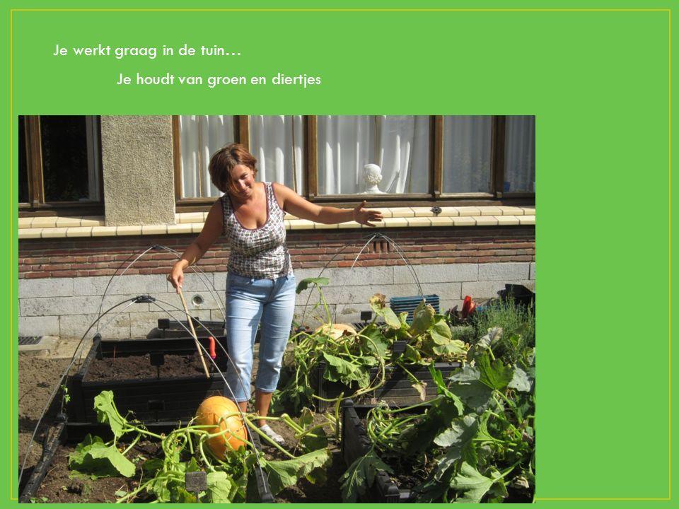 Je werkt graag in de tuin… Je houdt van groen en diertjes