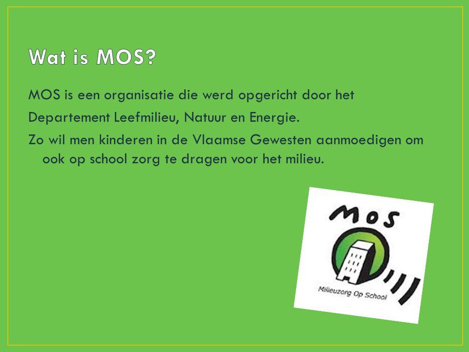 MOS is een organisatie die werd opgericht door het Departement Leefmilieu, Natuur en Energie.