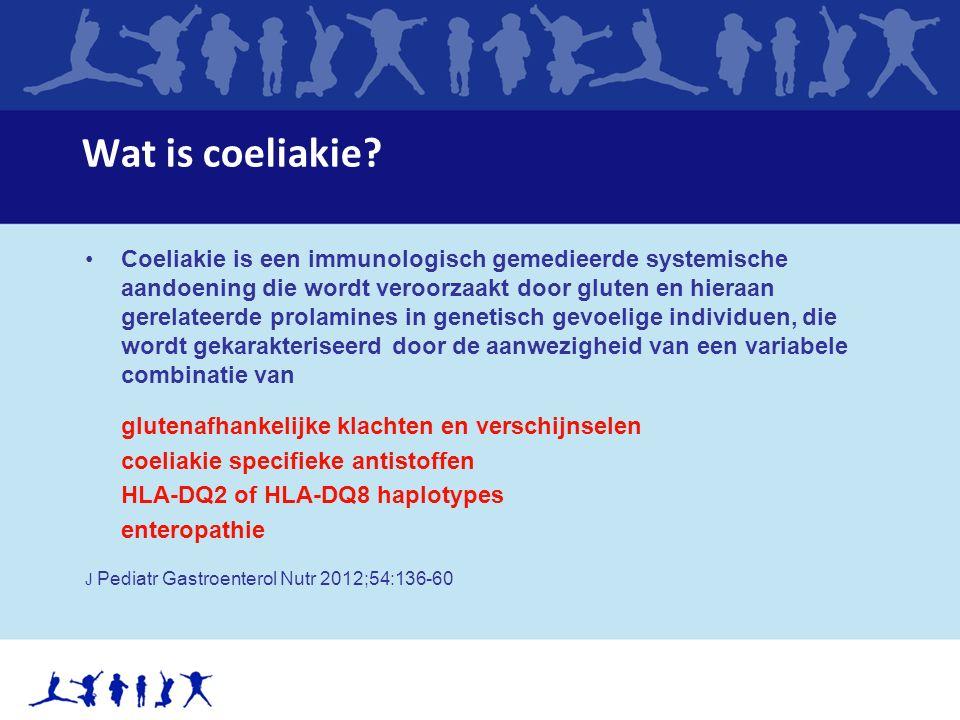 Wat is coeliakie? Coeliakie is een immunologisch gemedieerde systemische aandoening die wordt veroorzaakt door gluten en hieraan gerelateerde prolamin