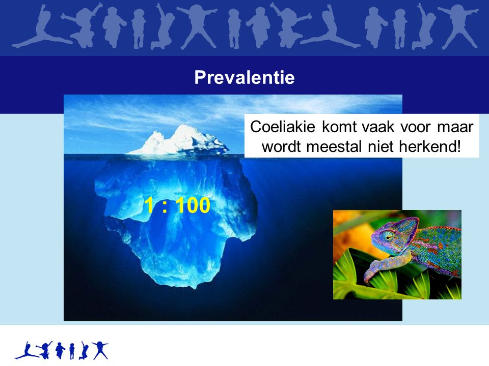 Prevalentie Coeliakie komt vaak voor maar wordt meestal niet herkend! 1 : 100