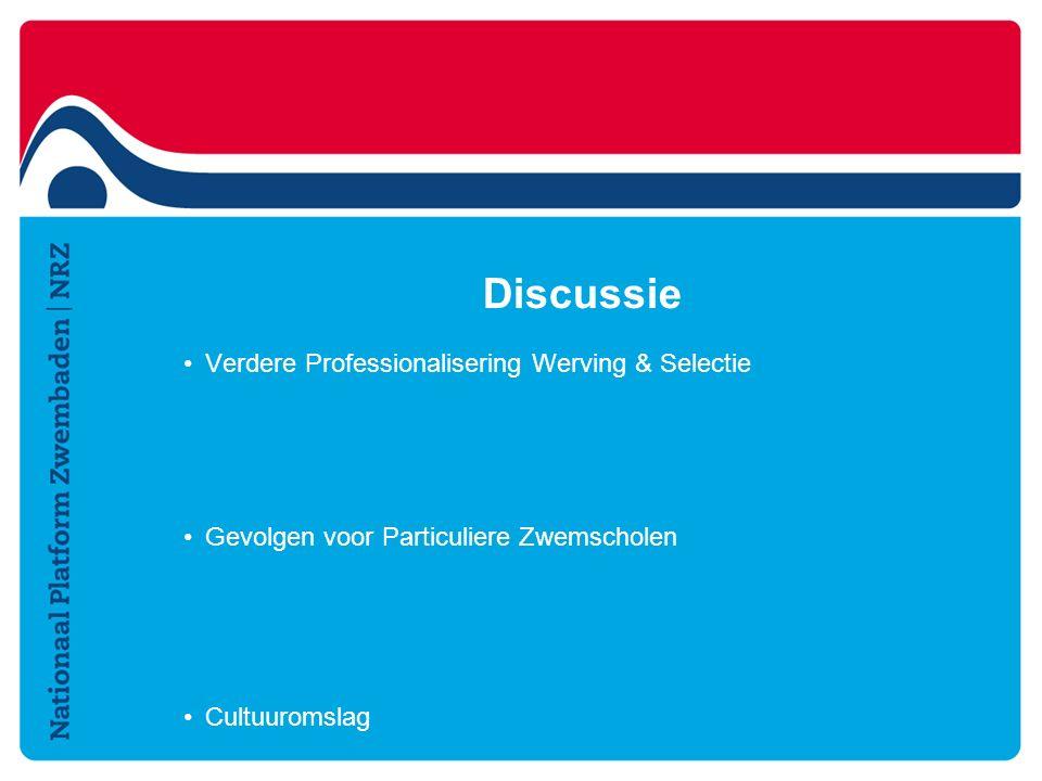 Discussie Verdere Professionalisering Werving & Selectie Gevolgen voor Particuliere Zwemscholen Cultuuromslag
