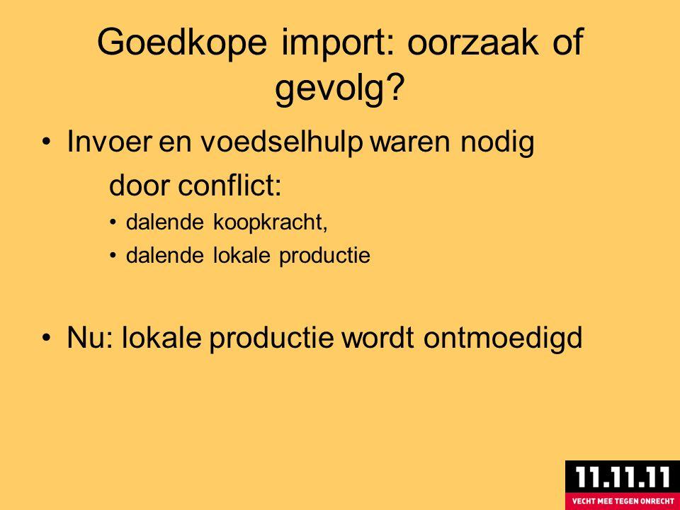 Goedkope import: oorzaak of gevolg.